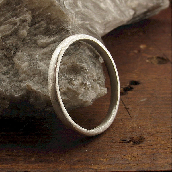 White gold narrow court wedding ring. - Gretna Green Wedding Rings