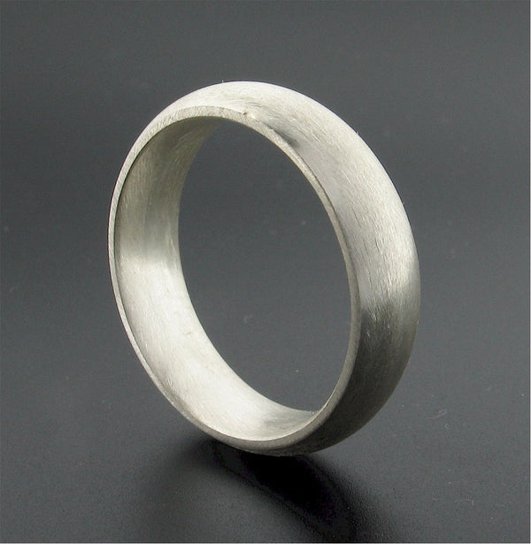 Silver wide court wedding ring. - Gretna Green Rings