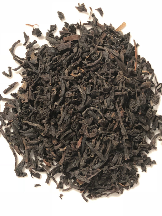 An organic loose leaf Assam tea from the Satrupa Estate in India