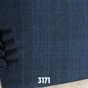 Charcoal Plaid w/ Blue Accents | Men's Suit | Contemporary Fit