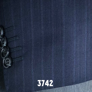 Navy Herringbone Solid | Men's Suit | Contemporary Fit
