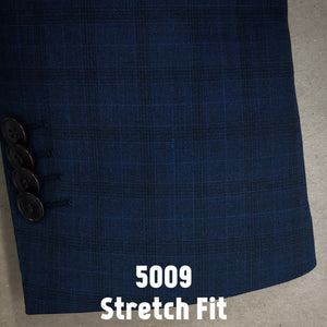 Navy Plaid | Men's Suit | Stretch Slim Fit