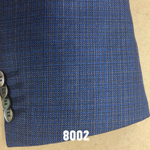 Mixed Blue and Tan Solid  | Men's Sport Coat | Contemporary Fit