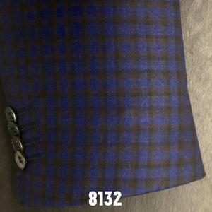 Blue and Tan Check Sport Coat