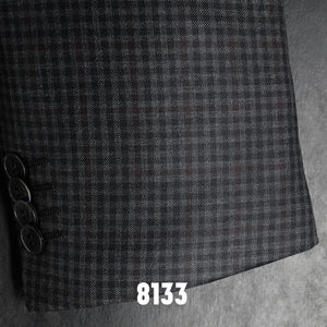 Charcoal Check w/ Burgundy Accent | Men's Sport Coat | Contemporary Fit