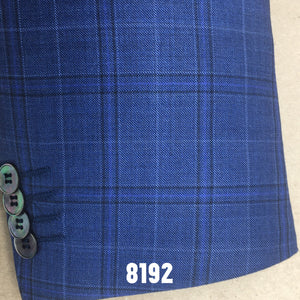 Blue Plaid w/ Navy Accent | Men's Sport Coat | Contemporary Fit