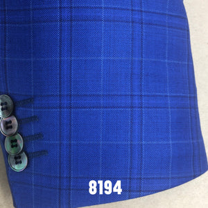 Cobalt Blue Plaid | Men's Sport Coat | Contemporary Fit