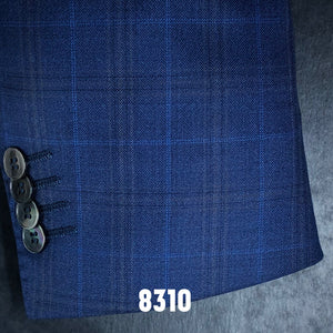 Vivid Blue Plaid w/ Cobalt Accent | Men's Sport Coat | Contemporary Fit