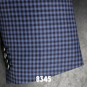 Blue and Navy Check | Men's Sport Coat | Contemporary Fit