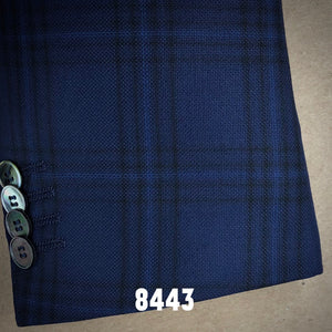 Blue and Black and Navy Plaid | Men's Sport Coat | Contemporary Fit