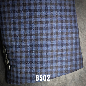 Blue and Tan and Navy Check Plaid | Men's Sport Coat | Contemporary Fit