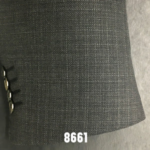 Charcoal Textured Solid Sports Coat
