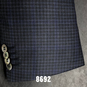 Charcoal Check w/ Blue Accent Plaid | Men's Sport Coat | Contemporary Fit