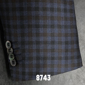 Blue and Brown and Navy Check | Men's Sport Coat | Contemporary Fit