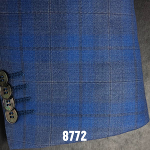Blue Plaid w/ Tan Accents | Men's Sport Coat | Contemporary Fit
