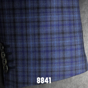 Mid Blue Plaid | Men's Sports Coat | Contemporary Fit