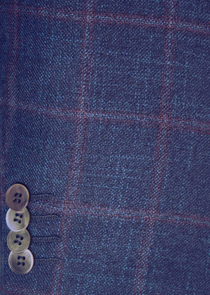 Bamboo Blend Window Pane Plaid