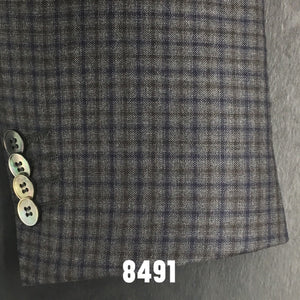 Grey Check w/ Blue Accent | Men's Sport Coat | Contemporary Fit