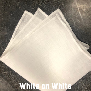 Piped Edge -White Square Linen