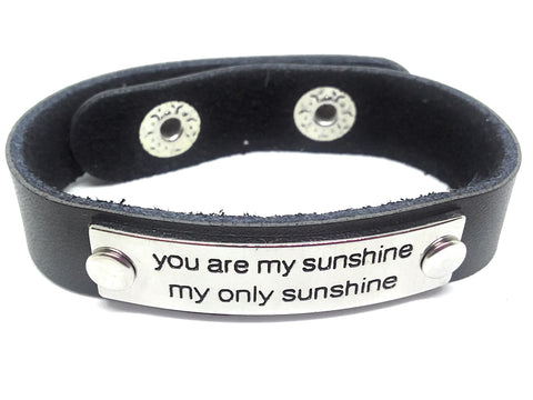 Inspirational Message Link Leather Bracelets