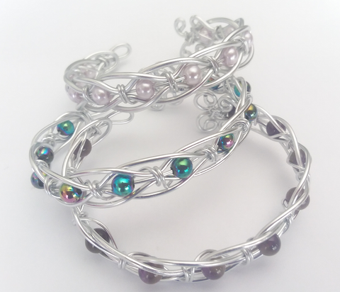 Wire-wrapped Bracelets