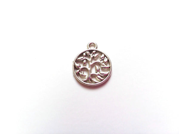 Antique Silver Tree of Life Pendant Charms (Jump Rings Included)