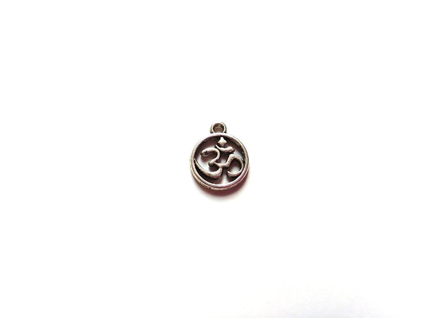 Antique Silver OHM Symbol Pendant Charms (Jump Rings Included)