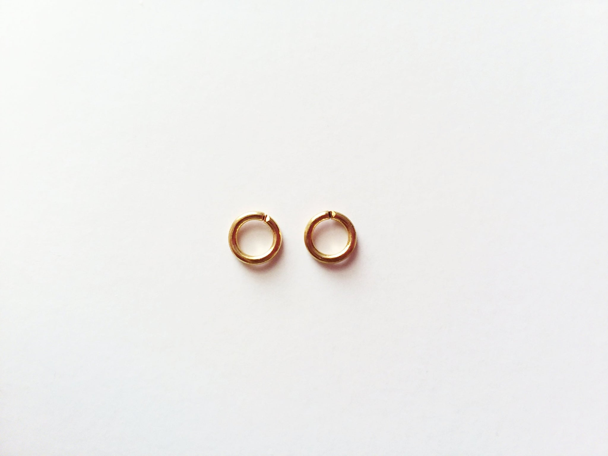 100 Gold Plated Jump Rings 6mm, 20 gauge