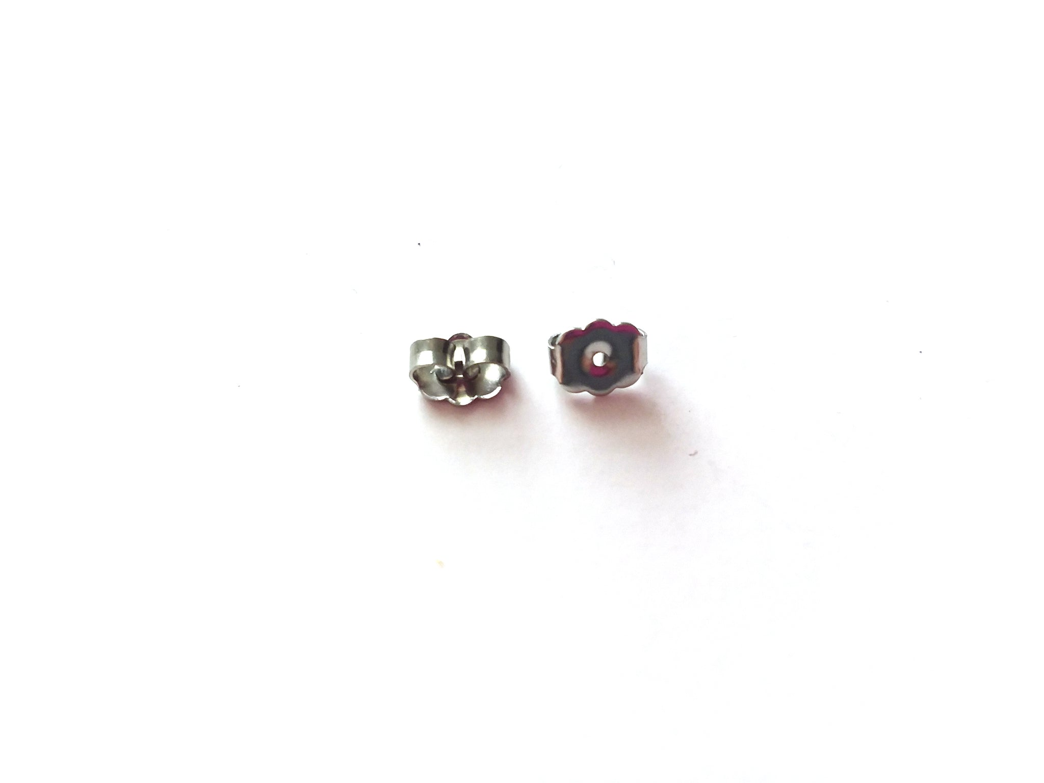 100 Silver Plated Stainless Steel Earnuts-Earring Backing