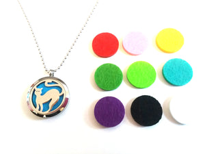 Stainless Steel Aromatherapy Locket Necklace - Cat 1