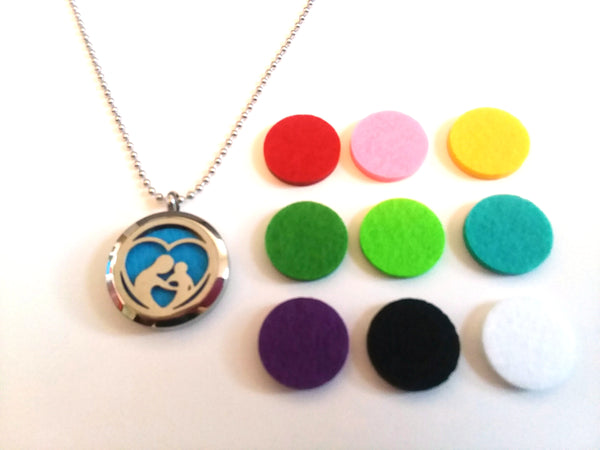 Stainless Steel Aromatherapy Locket Necklace - Family