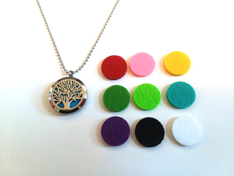 Stainless Steel Aromatherapy Locket Necklace - Tree of Life