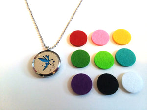 Stainless Steel Aromatherapy Locket Necklace - Tinkerbell