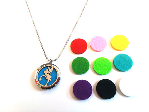 Stainless Steel Aromatherapy Locket Necklace - Tinkerbell 2