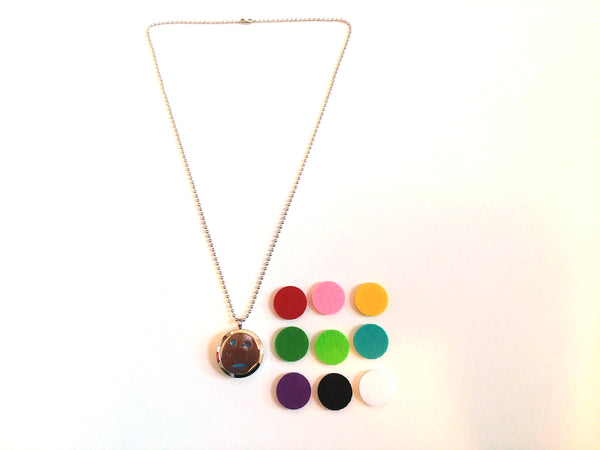 Stainless Steel Aromatherapy Locket Necklace - Beach
