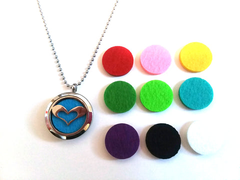 Stainless Steel Aromatherapy Locket Necklace - Heart