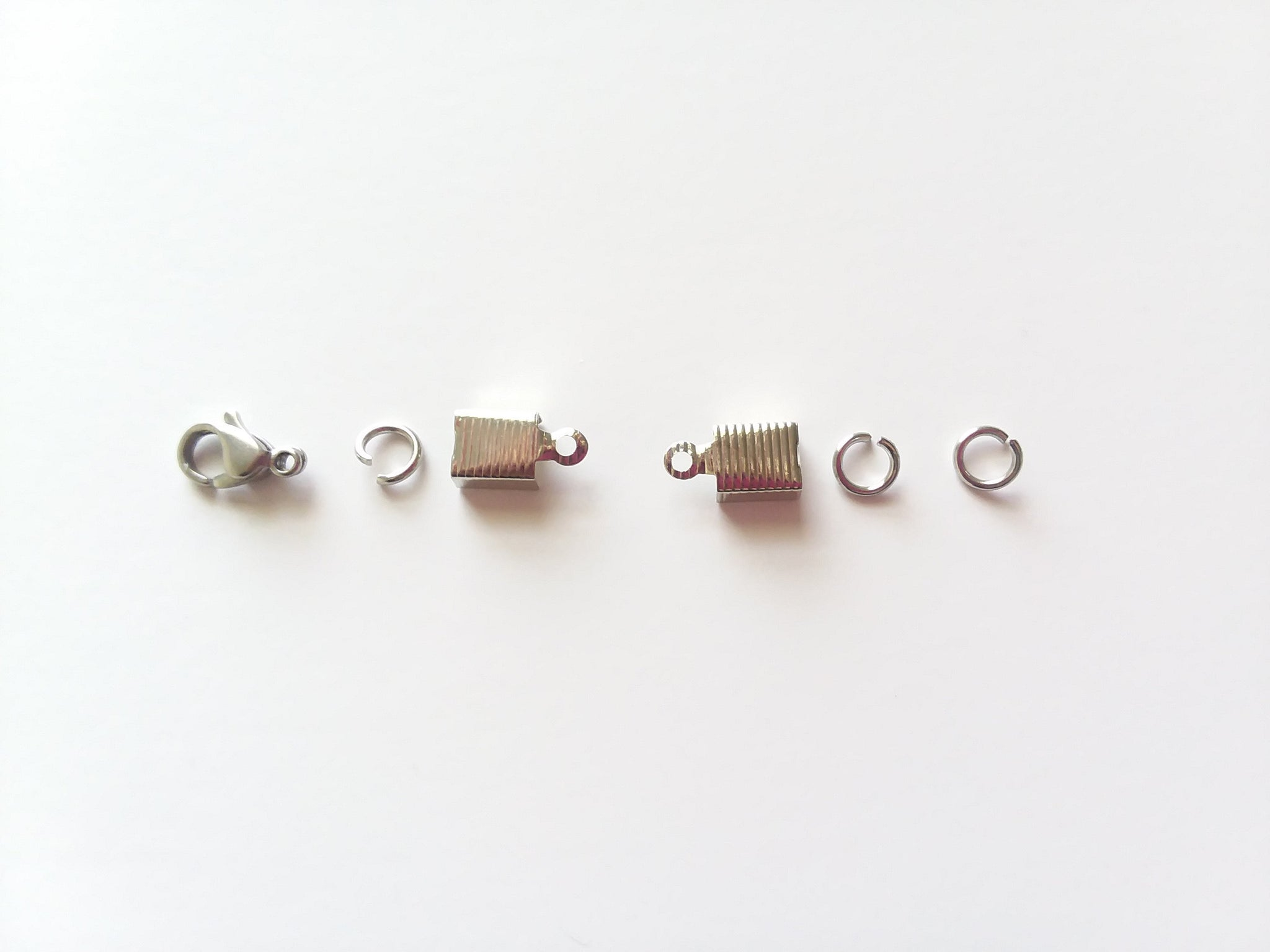 Set of Stainless Steel Findings for Making 12 Bib or Pendant Necklaces