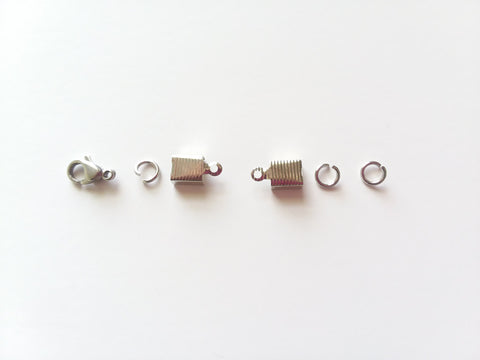 Set of Stainless Steel Findings for Making 6 Bib or Pendant Necklaces