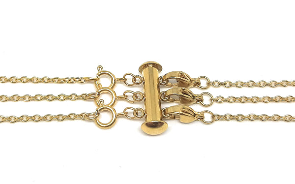Layered Necklace Clasp - Gold Stainless Steel for 3