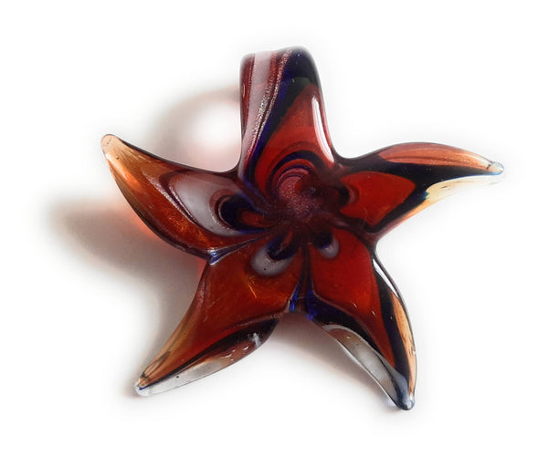 Lampwork Glass Starfish Pendant SF20