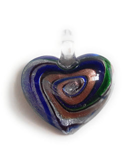 Lampwork Glass Heart Pendant HT01