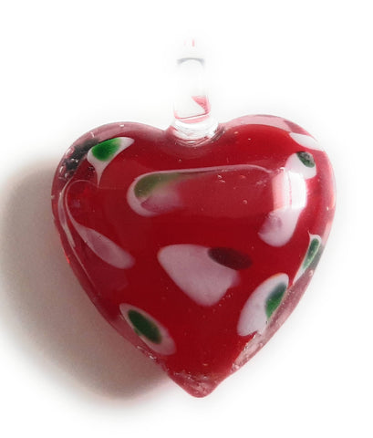 Lampwork Glass Heart Pendant HT02