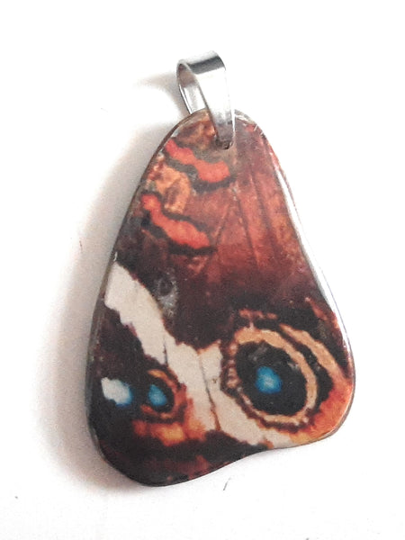 Painted Butterfly Wing Pendant BW03-Small