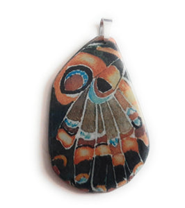 Painted Butterfly Wing Pendant BW02-Large