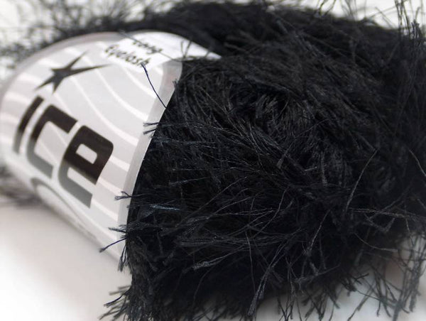 Long Eyelash Yarn - Black