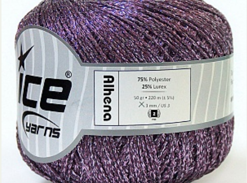 Alhena Metallic Yarn - Lilac