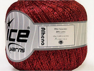 Alhena Metallic Yarn - Red