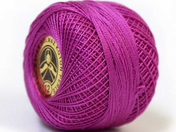 2 Skeins Crochet Fingering Thread - Dark Rose