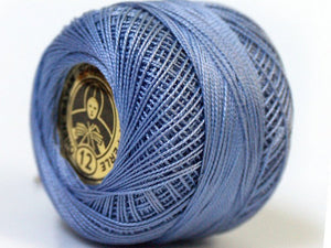 2 Skeins Crochet Fingering Thread - Indigo Blue