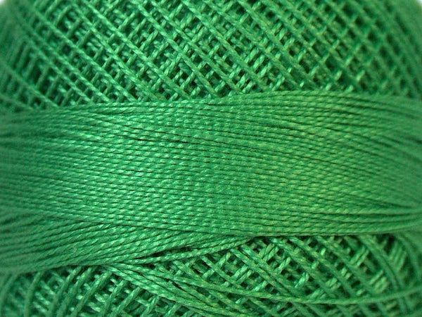 2 Skeins Crochet Fingering Thread - Light Forest Green